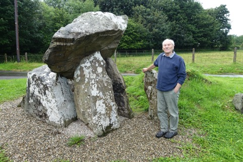 Ken Pullin at Tirnony Portal Tomb, Co Derry, July 2017